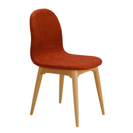 e by IDEE - COCHONNET CHAIR OrangeⅡ legs:Natural
