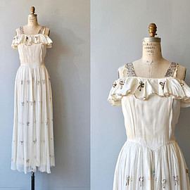 Oh Darling dress | vintage 1930s dress | formal 30s dress