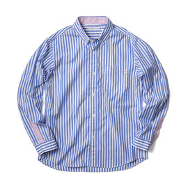 HEAD PORTER PLUS - STRIPE SHIRT BULE/PINK