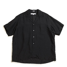 INDIVIDUALIZED SHIRTS - LOFTMAN別注 SS Open Collar Shirts-Black