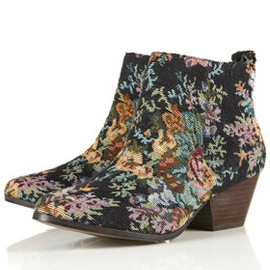 TOPSHOP - ADIOS Tapestry Western Boots