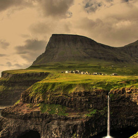Gàsadalur Village in Faroe Islands - Gàsadalur Village in Faroe Islands