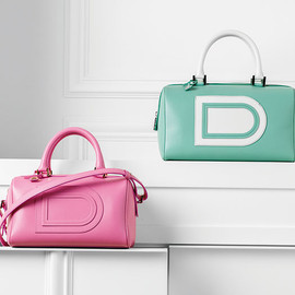 DELVAUX - Louise Boston PM,Allure:Flamingo