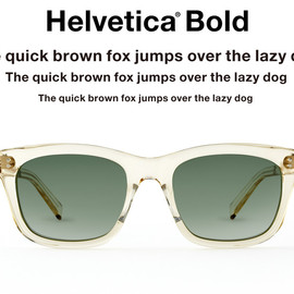 TYPE - TYPE Helvetica® | Bold | Clear | Shade