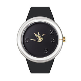 odm - 0 Degree watch paper crane black