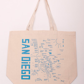 Maptote - SAN DiEGO MAP Big Tote bag MAPTOTE