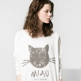 MANGO - MANGO Miau Cotton Sweatshirt
