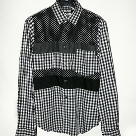 BLACK COMME des GARCONS - Patchwork Gingham check Shirt