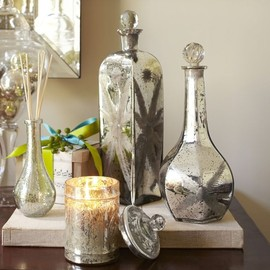 Pottery Barn - Etched Mercury Glass Perfume Bottles - Benefiting St. Jude Children's Research Hospital®