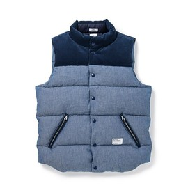 BEDWIN - CHAMBRAY DOWN VEST「FRIPP」
