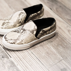 CELINE - celine-snake skin slip on shoes