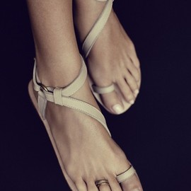 Rabens Saloner - Sandal W.Cross Over Front