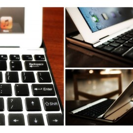 M.I.C gadget - Aluminium KeyBoard Buddy Case for iPad 2