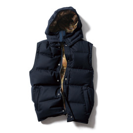 SOPHNET. - 2 LAYER WOOL HOODED DOWN VEST