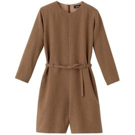 A.P.C. - Belted jumpsuit - FROSTED CHESTNUT BROWN - A.P.C. WOMAN