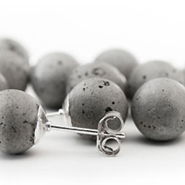 METSA DESIGN - Concrete Pearl Earrings