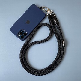 EXTENDED PHOTOGRAPHIC MATERIAL - 【MAMMUT EDITION】 YOSEMITE MOBILE STRAP LEATHER MOUNTAIN BLACK