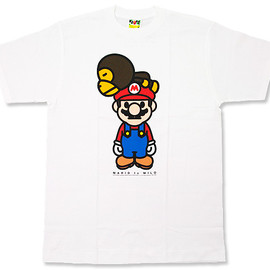 A BATHING APE - A BATHING APE(エイプ)NFS限定 MARIO to MILO / 寝そべり Tシャツ【新品】WHITE