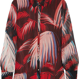 Matthew Williamson - SS2015 Printed silk-chiffon shirt