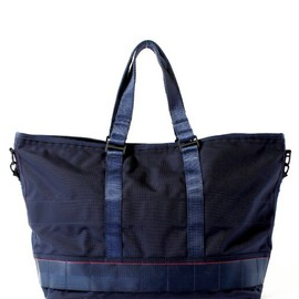 "BRIEFING×BEAMS PLUS - 別注 AIR FORCE BLUE LINE ""MIL TRAINING TOTE"""