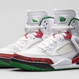 Nike - NIKE JORDAN SPIZIKE WHITE/CEMENT GREY-CLASSIC GREEN-VARSITY RED