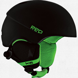 RED - Hi-Fi Helmet Black/Green