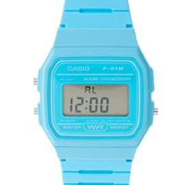 CASIO - Image 1 of Casio F-91WC-2AEF Digital Blue Watch