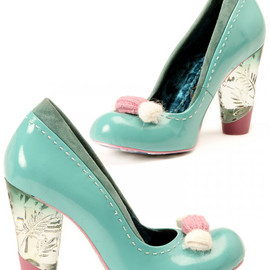 Irregular Choice - cute Tickling Loris Shoes, scarpe kawaii azzurre e rosa