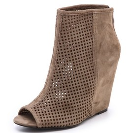 Ash - June Perforated Wedge Booties