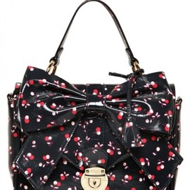 REDValentino - CHERRY PRINTED LEATHER TOP HANDLE multi