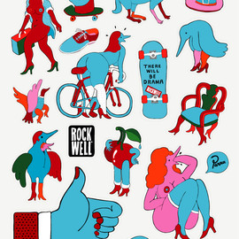 Rockwell Clothing - Parra Sticker