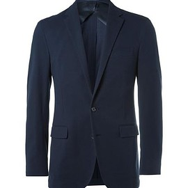 Polo Ralph Lauren - Blue Slim-Fit Brushed Stretch Cotton-Blend Blazer