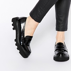call it spring - Image 1 of Call It Spring Chalille Black Grunge Sole Flat Loafer Shoes