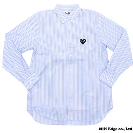 PLAY COMME des GARCONS - STRIPED BUTTON DOWN SHIRT