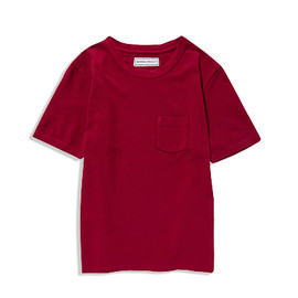 UNIVERSAL PRODUCTS - CREW NECK POCKET TEE[RED]