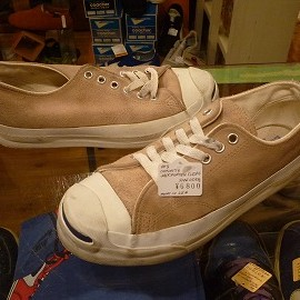 "converse - 「<used>90's converse JACK PURCELL SUEDE OX beige""made in USA"" size:US5/h(24cm) 6800yen」完売"