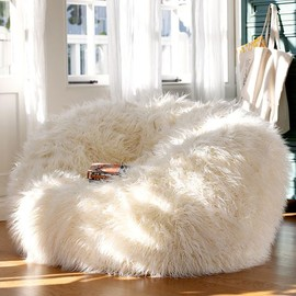 PBteen - Ivory Furlicious Beanbags