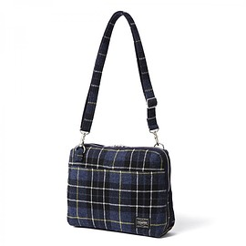 "HEAD PORTER - ""LESSON"" SHOULDER BAG NAVY"