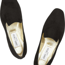 JIMMY CHOO - Wheel suede slippers