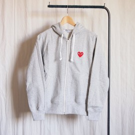 PLAY COMME des GARCONS - 綿裏毛(赤エンブレム) Zip Parka #top gray