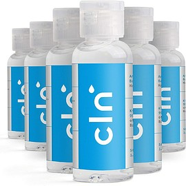 cln - Hand Sanitiser Gel 75% Alcohol Antibacterial Hand Wash Pump Action Sanitising Bottle 50ml (6 PACK)