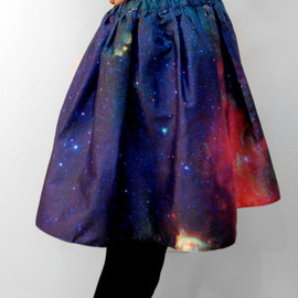 Starburst Cluster Pixel Galaxy Space Skirt