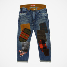 JUNYA WATANABE COMME des GARCONS MAN -  Levi's  Vintage Clothing 1954 Patchwork Denim