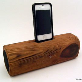 Reclaimed - Redwood iPod Speaker Docking Station