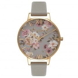 Olivia Burton - Flower Show Big Dial Grey &;Amp Gold Watch