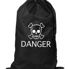 KIKKERLAND - Danger Skull Laundry Bag
