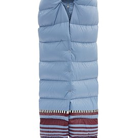 1 Moncler Pierpaolo Piccioli - Adelaide striped-hem padded-scarf jacket