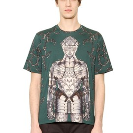 DOLCE&GABBANA - FW2014 KNIGHT PRINTED COTTON T-SHIRT