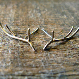 AutumnEquinox - Sterling Silver Antler Earrings