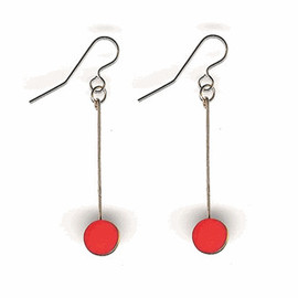 i.Ronni Kappos - GOLD DIPPED SIMPLE RED DROP EARRING